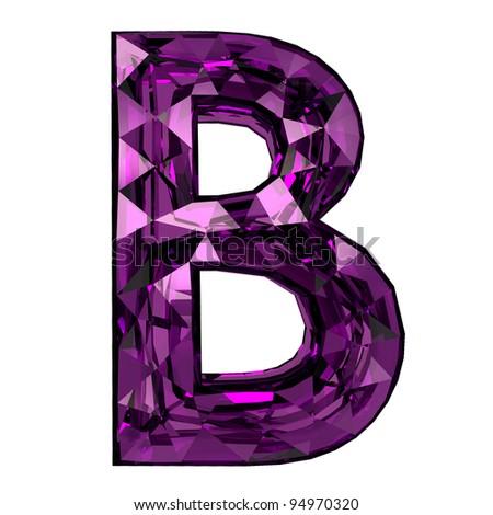 3d diamond font b