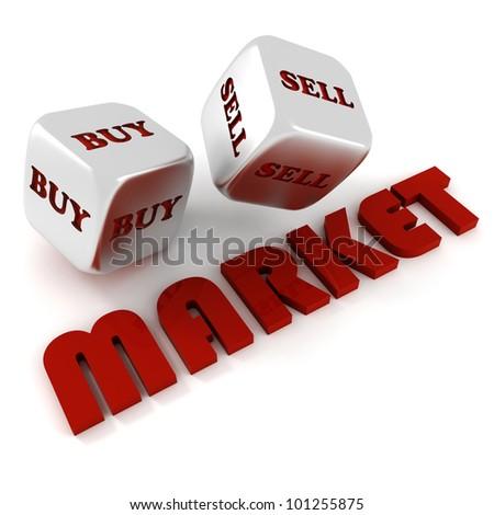 3d dices business concept