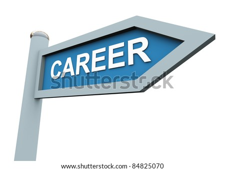 3d directional sign of text 'career'