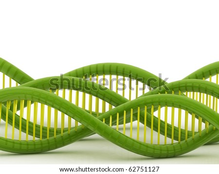 3d dna in white background