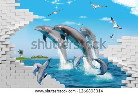 3D Dolphin Fish Design