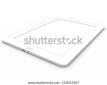 3d drawing tablet on a white background ?3