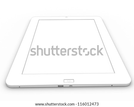 3d drawing tablet on a white background