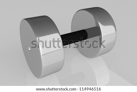 3d Dumbbell weights on white background - stock photo