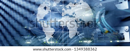3D Earth as telecommunication and internet technology concept #1349388362