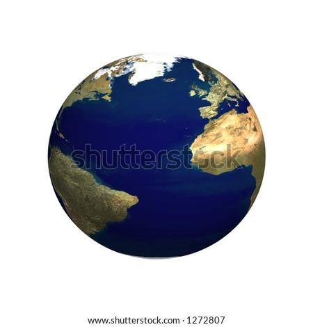 3d earth planet illustration