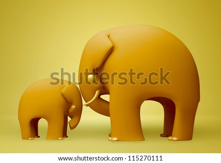 3D elephant happy fathers day