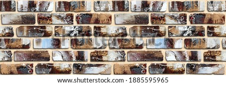 3D Elevation tiles, ornaments, colorful wall tiles Decor For home , wall decor on brown beige marble, it also can be used for wallpaper, 3D wall decor.