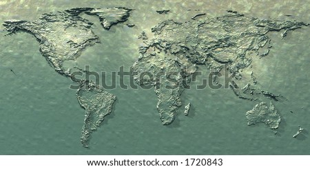 3d embossed map of the world with different styles to choose from