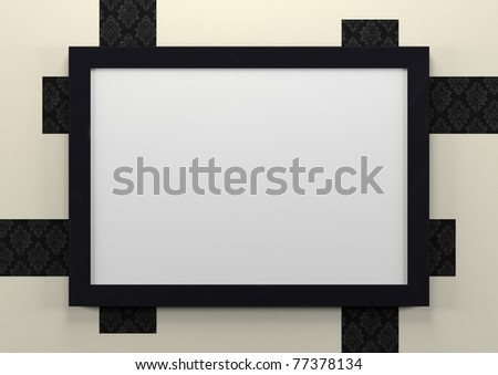 3d empty frame on wall