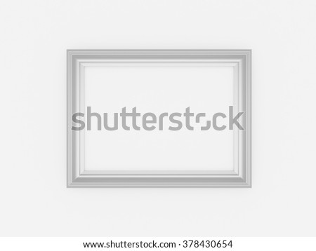 3d empty frames on white wall | EZ Canvas