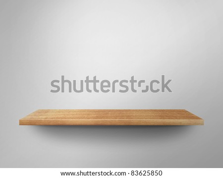 3D empty shelf on wall