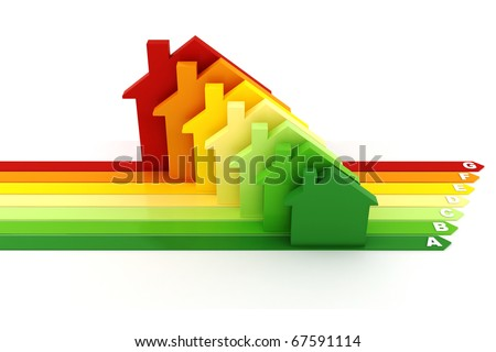 3d, Energy efficiency concept, on white background