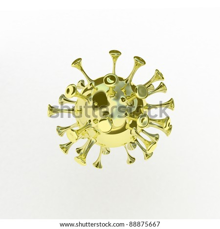 3d enticing golden virus