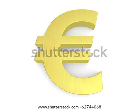 3d euro sign from my golden collection