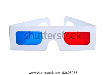 3d eyeglasses on white background