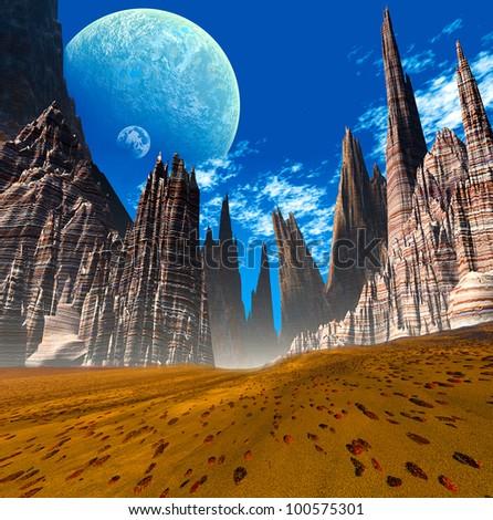 3d Fantasy landscape