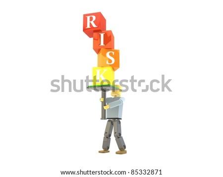 3D figure balancing RISK building blocks