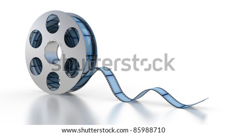 3d Film Strip on a white background