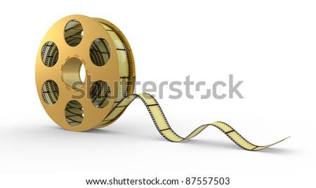 3d Film Strip on a white background