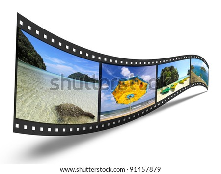 3D film strip with nice pictures