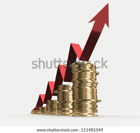 3d Financial success concept - stock photo