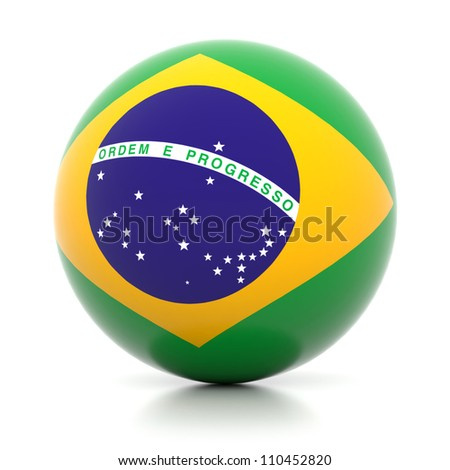 3d flag ball collection - Brazil