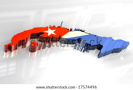 3d flag map of cuba stock photo 17574496   shutterstock