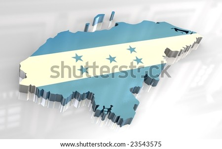 political map of honduras. house map of honduras and