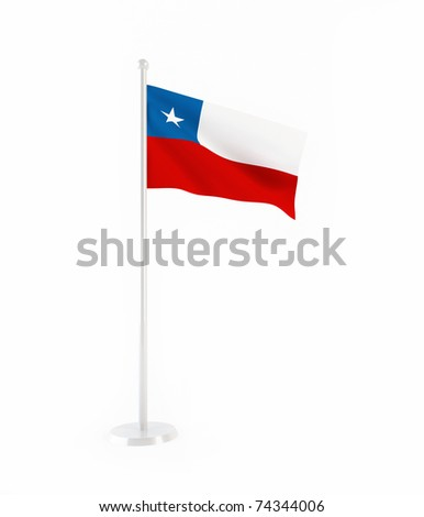 3D flag of Chile