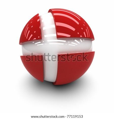 3D  - Flag of Denmark