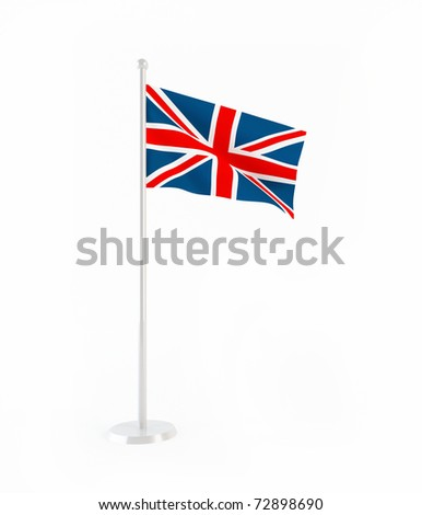 3D flag of Great Britain