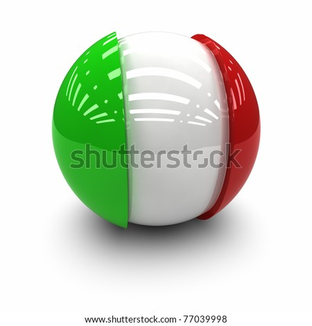 3D  - Flag of Italy
