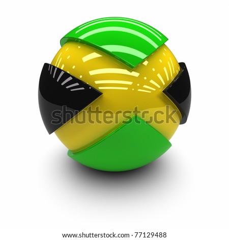 3D  - Flag of Jamaica