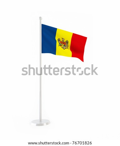 3D flag of Moldova