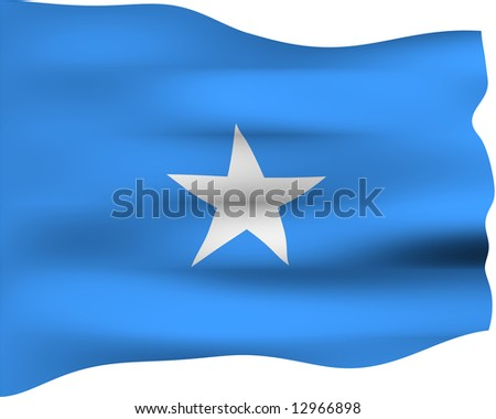 3d flag of Somalia