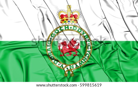 Shutterstock 3D Flag of the Wales (1953-1959). 3D Illustration.