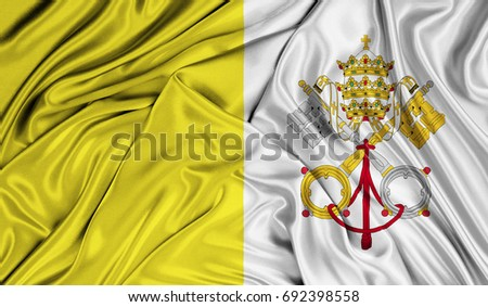 3d flag of vatican city holy...