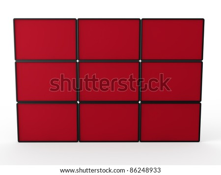3d flat lcd wall tv red technology
