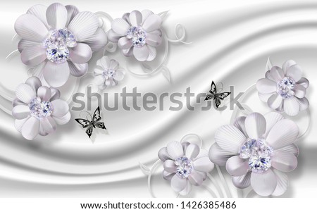 3D flower With Silky Wallpaper Background