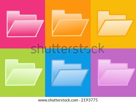 3d folder icon - computer generated clipart