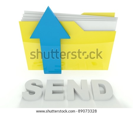 3d folder icon with arrow