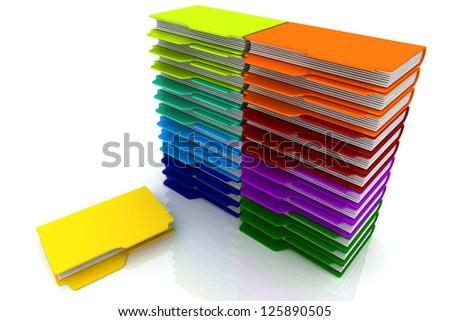 3D Folders Shelf