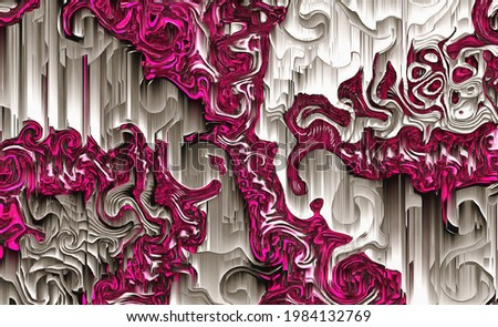 3d fractal illustration. Abstract fractal in a bright and colorful color. Abstract forms. Foto stock ©
