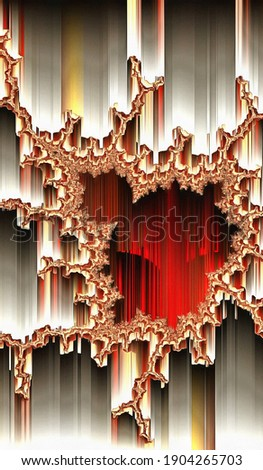 3d fractal illustration.Abstract fractal in bright color. Abstract forms. Foto stock ©