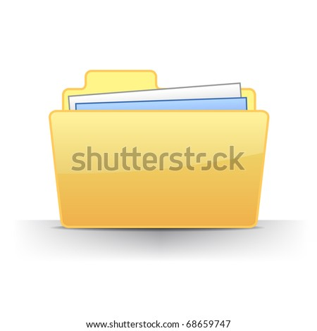 3d full files folder icon illustration
