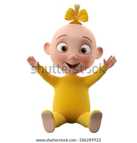Cartoon Babies Smiling Cartoon Babies Smiling