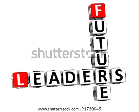 3D Future Leaders Crossword on white background