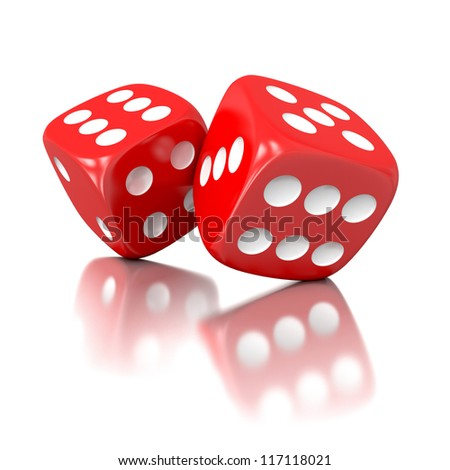 3d game dices isolated on white background