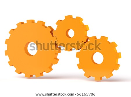 3d gears - stock photo